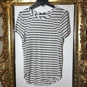 Tart Black & White Striped T-Shirt